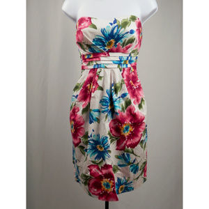 Deb Floral Strapless Dress Juniors 9
